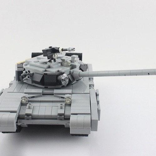 Grey T - 90 Main Battle Tank Russian MOC 1242 pc real Lego Custom set navy army
