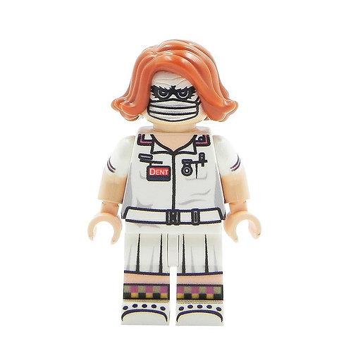 Joker Nurse Custom minifigure - print on original parts - BLACK ARKHAM Lego