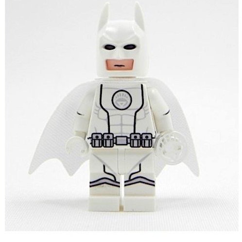 White Lantern Batman Custom minifigure - print on LEGO parts - with printed ring