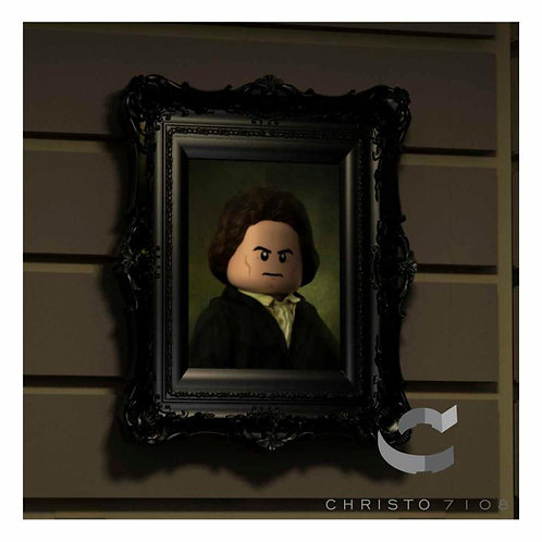 Christo Custom Fine Art Brick Painting -Ludwid van Brickhoven Painting - LIMITED