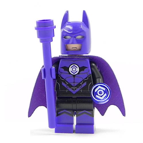 Batman Indigo Tribe Purple Lantern Lego Custom minifigure Staff cape DC Justice