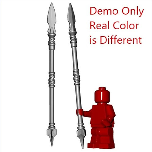 Long elf / spartan Steel Sarissa Spear for Lego minifigure Pike HOBBIT Ca
