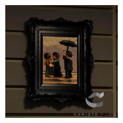 Christo Custom Fine Art Brick Painting - The Brick Dancer Painting - LIMITED