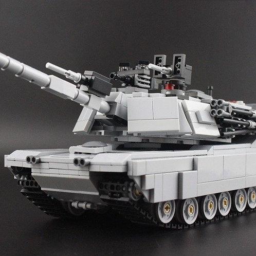 Gray M1A2 Abrams MOC 1187 pc real Lego Custom Main Battle Tank set U.S.A army