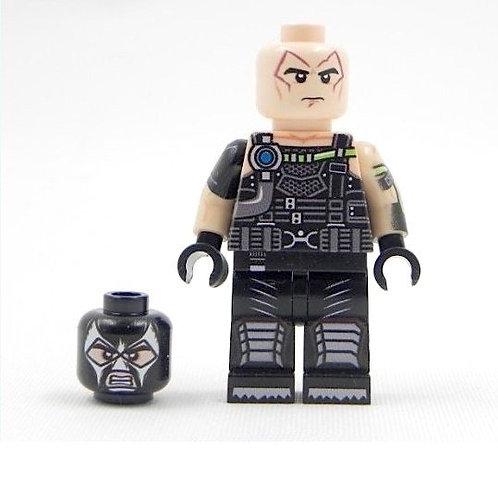 Bane minifigure Custom - print on LEGO parts - Batman Alfred Bruce Wayne DC