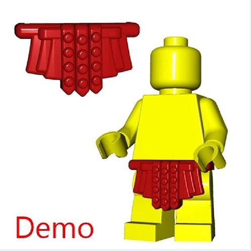 Custom Dark Red Roman Skirt Castle Rome Greek Legion Warrior fig Cloth cover