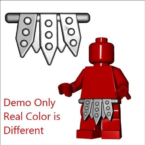 White color Gladiator Skirt Roman Maximus Warrior Swordsman Armor for minifigure