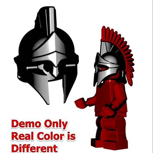 Custom Black Spartan Helmet LOTR Roman Castle Rohan 300 Troy Greek for Lego fig