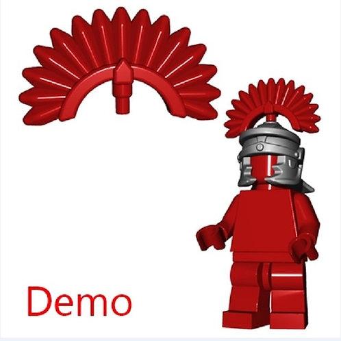 Dark Red Roman Plume for minifigure Castle Rome Greek Legion Warrior hair head
