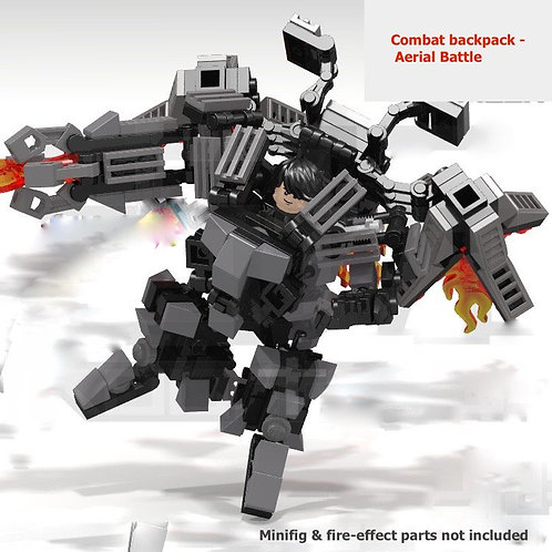 3-in-1 MOC Transformable Armed Mech combat Suit Armor pack for brik minifigure
