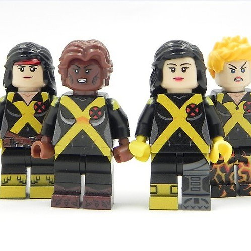 Team of 8 - Gen X Lego Custom minifigure X Men New Mutant Generation X-Men