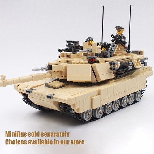 Tan M1A2 Abrams US army Middle East MOC 1187pc Lego Custom Main Battle Tank MOC