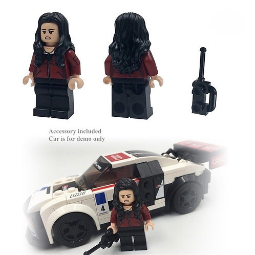 Custom brik minifigure Fast & Furious 8  Letty Racer
