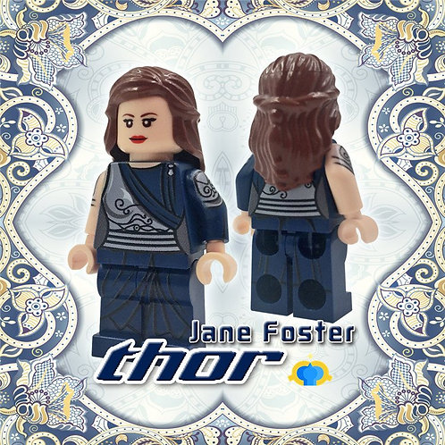 Custom Lego Jane Foster minifigure - Thor Ragnarok Superhero 76088 God Marvel