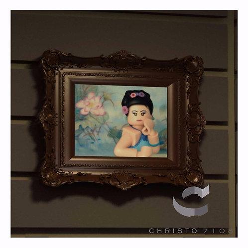 Christo Custom Fine Art Brick Painting - Pretty Brick Painting - LIMITED
