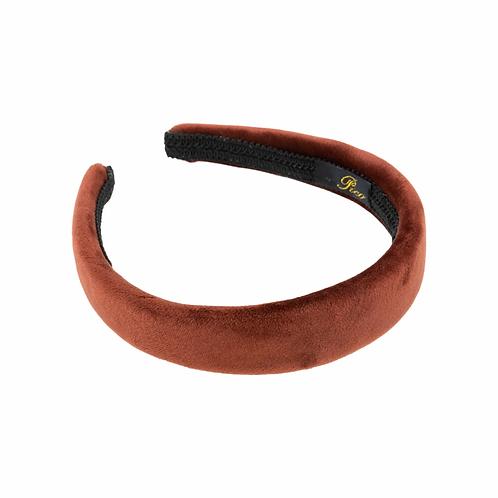 Pico Dahlia Plain Headband Cognac