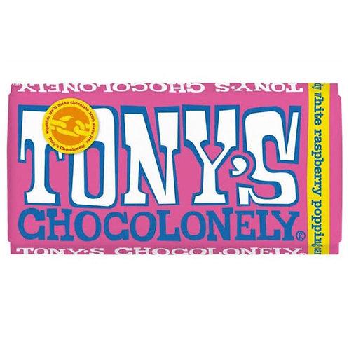 Tony's Chocolonely White Raspberry Popping 28%