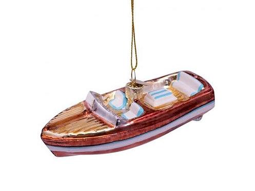 Vondels Brun/Hvid Båd