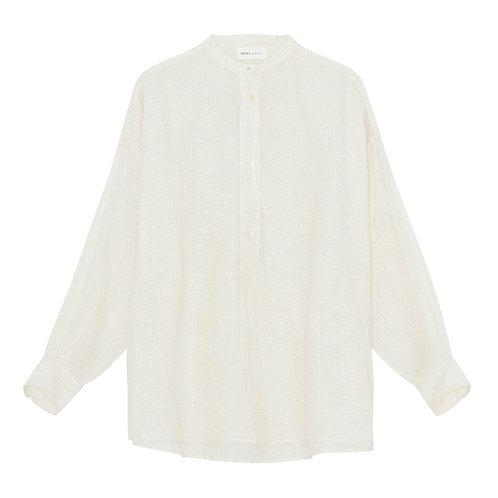 Skall Studio Lucca Tunic Shirt White Beige Check