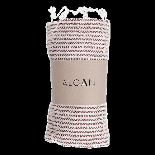 Algan Elmas-iki Mørk Terracotta Hamamhåndklæde