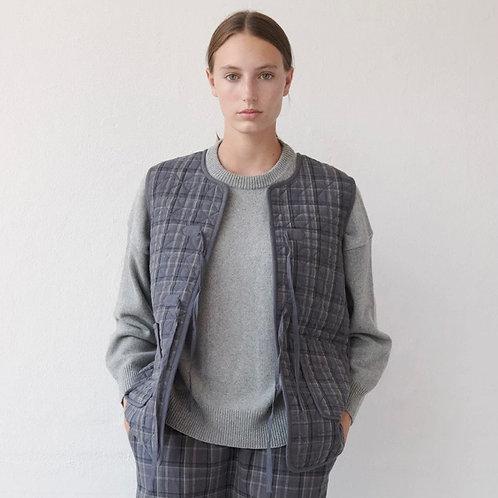 Skall Studio Anna Long waistcoat Check