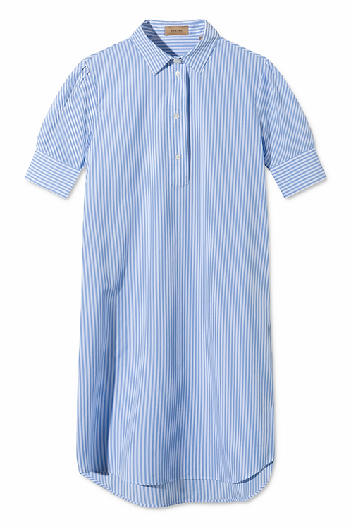 Rue De Tokyo Demi Light Blue White Stripe Dress