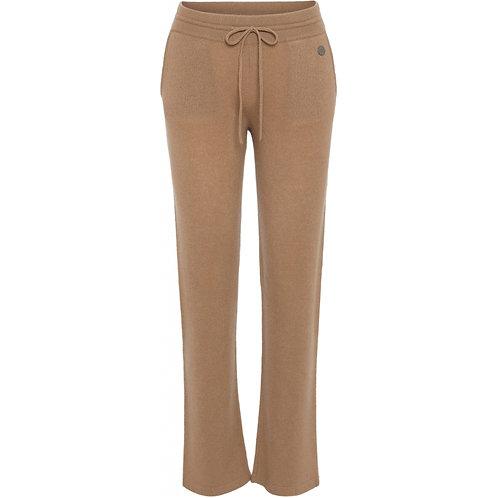 Beta Studio Camel Straight Fit Cashmere Pants
