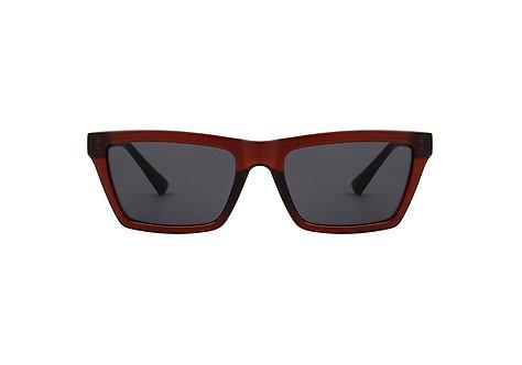 A.Kjærbede Clay Brown Transparent Solbrille