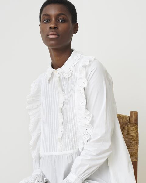 Skall Studio Daisy Shirt Dress White