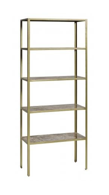 NORDAL -Jungle Rack, Marble, 5 Shelves, Antique Gold