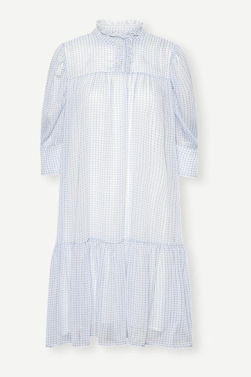 Birgitte Herskind Liva Dress Light Blue Checks