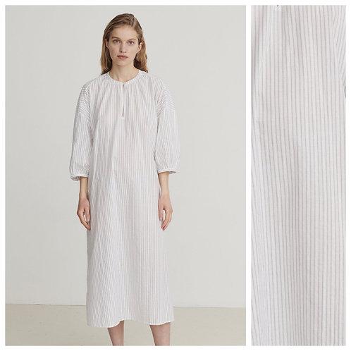 Skall Studio Pisa Tunic Dress White Grey Stripe