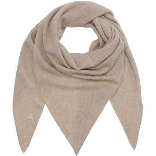 Beta Studio Triangle Cashmere Tørklæde Sand Melange