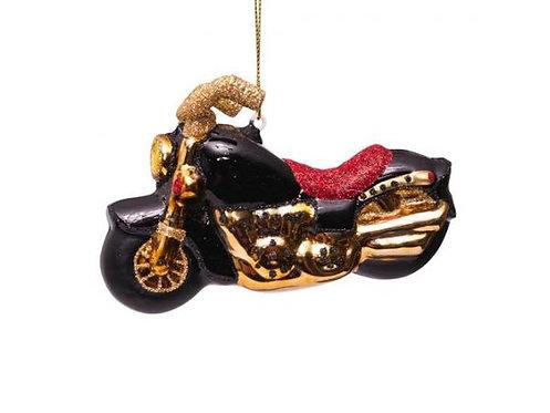 Vondels Sort/Guld Motorcykel
