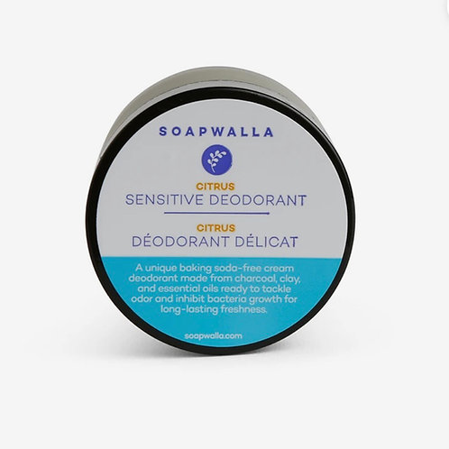 Soapwalla Creme Deodorant Sensitive Citrus