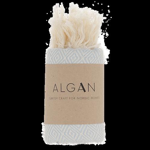 Algan Elmas Himmelblå Gæstehåndklæde Diamantmønster