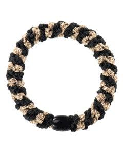 Kknekki Black Beige Glitter Stripe