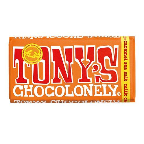 Tony´s Chocolonely Caramel and Sea Salt Milk Chocolate Bar