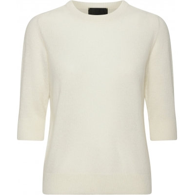 Beta Studio Lady sleeve O Neck Off White