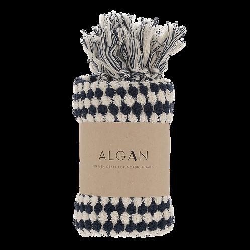 Algan Ahududu Gæstehåndklæde Navy Off White