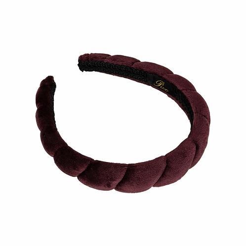 Pico Salicia Velvet Headband Aubergine