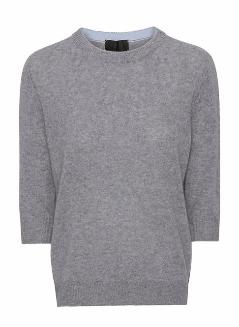 Beta Studio Cashmere Grey Ladysleeve Knit