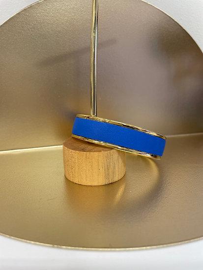 Manchette cuir S Bleu Cyclade