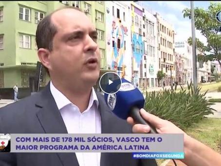 Fox Sports - Vasco chega a mais de 178 mil sócios, diretor conta detalhes: 'Não imaginava'