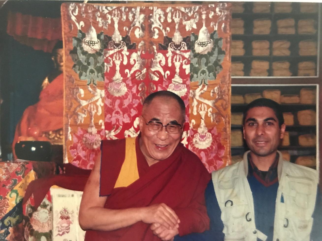 Crack a joke with the Dalai Lama - Sachin Singh - The Warmth of Humanity   Sarnath
