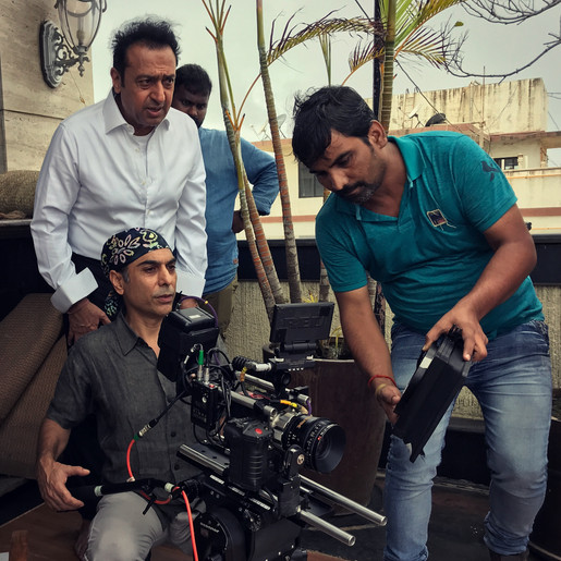Professional Cinematographer Nei Is Nei  with Mr. Gulshan Grover Actor - Mumbai - Feature Film