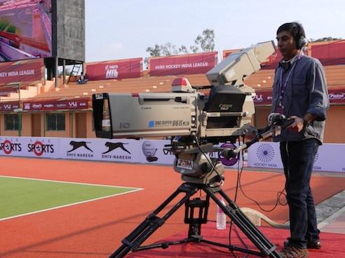 Sport Live Broadcast -Big Lens Camera - Field Hockey - India