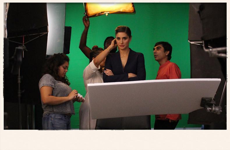 Filming with Super model Nargis Fakhri - Mehboob Studios Mumbai - Sachin Singh -Cinematography Lighting