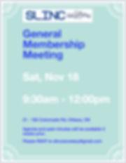 SLINC General Membership Meeting