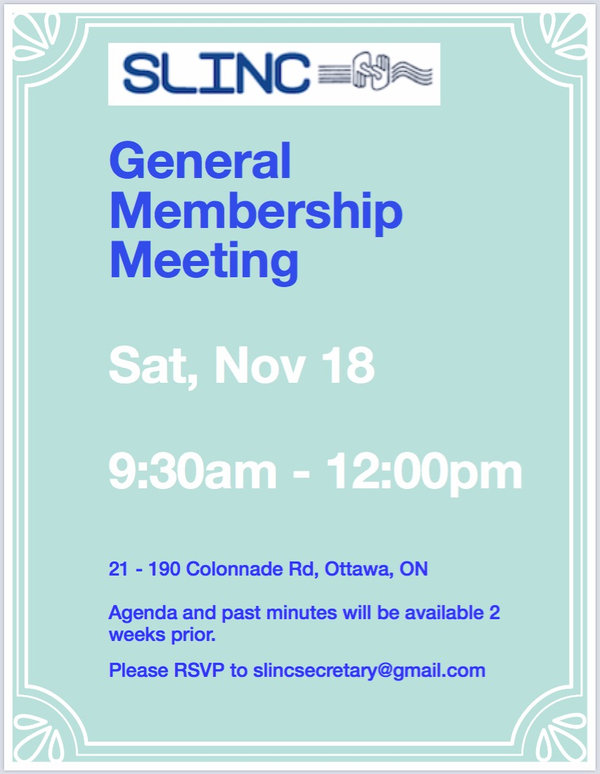 SLINC General Membership Meeting